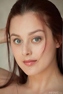 Olivia Honey in Pattern by Albert Varin indoor redhead green eyes shaved pussy ass custom