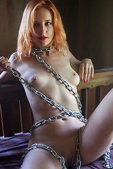 kristell belle femme angela linin indoor blonde blue shaved pussy bondage