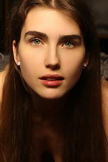 Presenting June by Natasha Schon indoor brunette green eyes ...