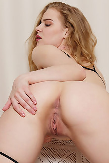 Mandy A in No Strings Attached by Flora indoor blonde blue eyes shaved pussy ass