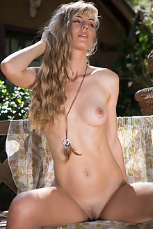 Presenting Jennifer Love by Cassandra Keyes outdoor sunny blonde brown eyes hairy trimmed