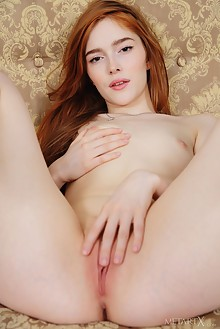 Jia Lissa in Vivid Play by Flora indoor redhead green eyes small tits trimmed pussy ass fingering
