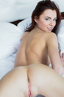 Aurmi in Galila by Rylsky indoor brunette blue eyes shaved pinky pussy ass latest