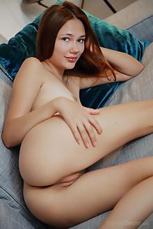 Janey in Amateur by Arkisi indoor brunette hazel eyes shaved pussy ass