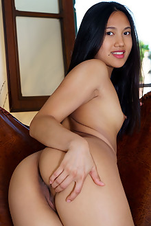 Presenting May Thai by Luca Helios indoor asian brunette black hair brown eyes small tits shaved tight pussy custom