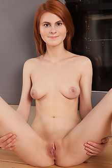 Presenting Daphne by Koenart indoor redhead brown eyes boobies shaved pussy custom