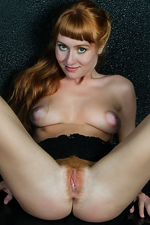 Brisa in Safrano by Rylsky indoor redhead green eyes boobies hairy unshaven pussy hips latest
