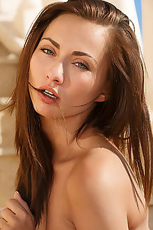 michaela isizzu kanatu don caravaggio blue eyes brunette outdoor custom