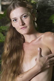 Chova in Chova by Marlene outdoor woods blonde small tits shaved