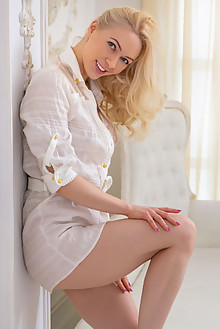 Anna Delos in In Position by Nudero indoor blonde shaved pussy