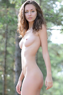 lisabelle new model presenting paramonov outdoor brunette brown boobies shaved