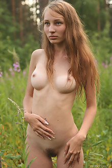 Presenting Mascha by Paramonov outdoor blonde blue eyes boobies hairy unshaven