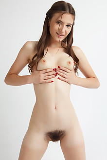 Yanetta in Laetthet by Rylsky indoor brunette brown eyes boobies hairy unshaven pussy