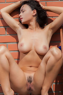 pammie lee the break out nudero outdoor brunette brown short boobies busty hairy unshaven pussy ebony