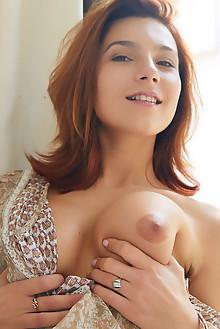 Belka in Voluptuous by Erro indoor brunette brown eyes boobies shaved pussy ass