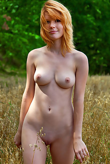 Mia Sollis in Legona by Peter Guzman outdoor redhead green eyes freckles boobies hay shaved tight pinky pussy ass latest