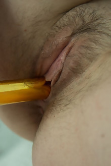 Angela H in Solitude by Stan Macias indoor brunette hairy unshaven pussy dildo fingering
