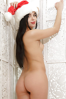 Venice Lei in Ho-Ho-Ho by Rylsky indoor brunette black hair green eyes shaved pussy ass latest