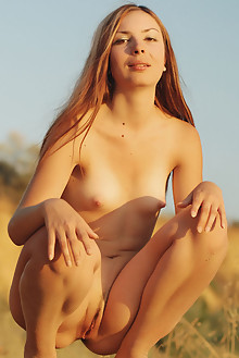 Presenting Afina A by Stanislav Borovec outdoor sunny blonde small tits shaved pussy tight