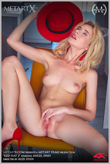 Angel Sway in Red Hat 2 by Alex Lynn indoor blonde shaved pussy ass fingering movies uhd video 4k