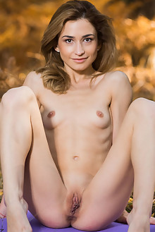 Susie in Febero by Karl Sirmi outdoor woods brunette brown eyes shaved latest