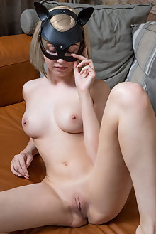 Bernie in Masked by Tora Ness indoor blonde green eyes petite shaved pussy ass