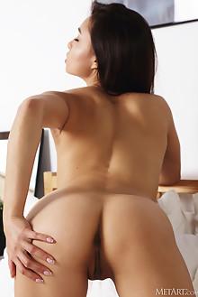 Astrid Herrara in Feeling Racy by Flora indoor brunette brown eyes boobies shaved pussy ass custom