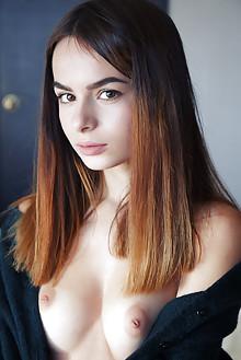 Debora A in Perau by Arkisi indoor brunette brown eyes boobies shaved pinky pussy ass latest