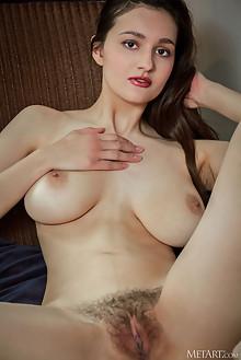 Adeline in Bounty by Albert Varin indoor brunette brown eyes boobies busty hairy trimmed pussy custom