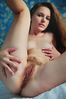 Sofi Shane in Hairy Chic by Arkisi indoor brunette brown eyes boobies hairy unshaven pussy custom