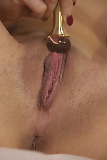 Lady Dee in Pheromone by John Chalk indoor brunette shaved pussy toys fingering