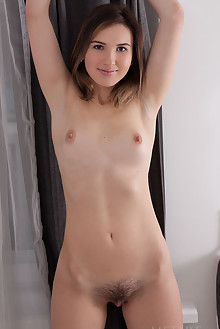 Anata in Sriney by Koenart indoor brunette brown eyes boobies hairy unshaven pussy labia custom