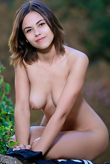 Dzhili in Main Squeeze by Matiss outdoor sunny brunette hazel eyes boobies shaved pussy