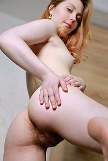Rita Angel in Efenra by Matiss indoor redhead green eyes small tits hairy unshaven pussy ass custom