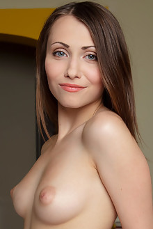 Ynesse in Arkirumi by Rylsky indoor brunette blue eyes boobies shaved pussy ass