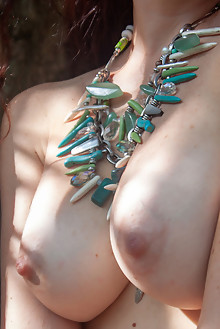 Madivya in In The Jungle by Angela Linin outdoor brunette bo...