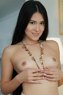 Kimiko in Topless And Tights by Arkisi indoor asian brunette...