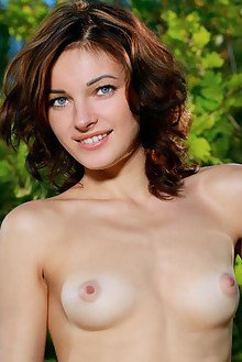 Florina in Zarria by Matiss outdoor woods sunny brunette blue eyes boobies shaved ass pussy latest