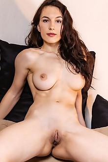 Luna Didier in Missing Piece by Albert Varin indoor brunette brown eyes boobies shaved pussy custom