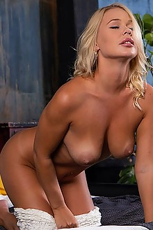 Sarika A in Love Shack by Nudero indoor blonde green eyes ta...