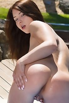 taylor sands darfe don caravaggio outdoor brunette brown boobies fingering pussy custom