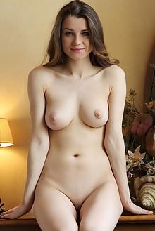 Pandora in Ranmi by Leonardo indoor brunette blue eyes boobies shaved pussy big labia custom latest