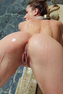nola lava arkisi indoor brunette blue ass pussy wet