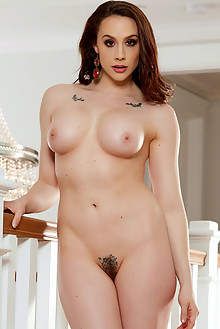 Chanel Preston in Regal by Holly Randall indoor brunette brown eyes boobies shaved pussy tattoo ass hips fingering latest