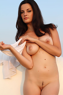 Lu lu in The White Spot by Slastyonoff outdoor brunette black hair brown eyes boobies tanned shaved pussy latest