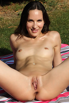 Lilu Moon in Well Read outdoor sunny brunette small tits shaved pussy ass toys latest