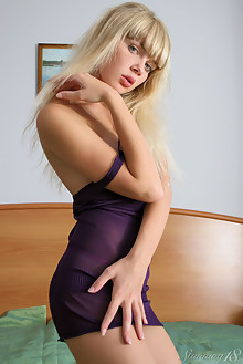 Ester in Blonde Au Naturel by Thierry Murrell indoor blonde shaved pussy