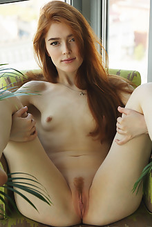 Jia Lissa in Lace by Flora indoor redhead green eyes small tits hairy trimmed pussy ass latest