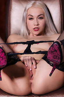 Marilyn Sugar in Mystery Girl by John Chalk indoor blonde shaved pussy dildo