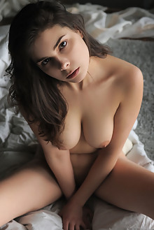 Amelie Belain in Gitesa by Artofdan indoor brunette brown eyes boobies stockings shaved tight pussy latest